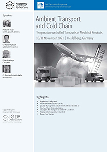 Ambient Transport and Cold Chain - Temperature controlled Transports of Medicinal Products and APIs