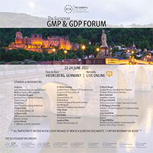 GMP & GDP Forum 2021 - GMP & GDP Part (Day 2) Im Auftrag der ECA Academy