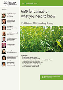 GMP for Cannabis – what you need to know 2nd Conference 2019 Im Auftrag der ECA Academy
