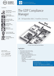 The GDP Compliance Manager