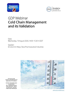 Webinar: Cold Chain Management and its Validation Im Auftrag der ECA Academy