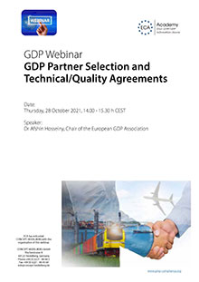Webinar: GDP Partner Selection and Technical/Quality Agreements Im Auftrag der ECA Academy